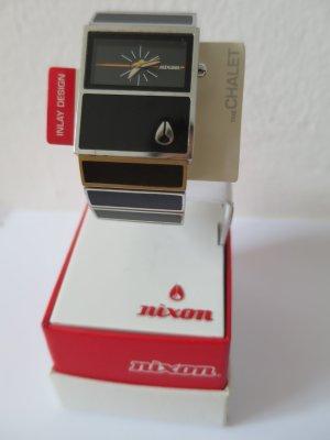 Nixon Horloge met metalen riempje zwart Edelstaal