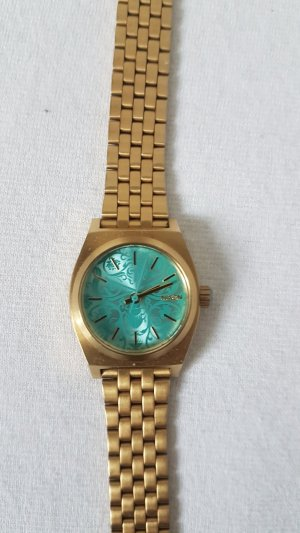 Nixon Watch With Metal Strap gold-colored-turquoise stainless steel