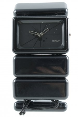 Nixon Uhr mit Metallband schwarz Casual-Look