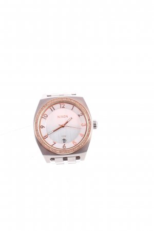 Nixon Uhr mit Metallband silberfarben-roségoldfarben Elegant