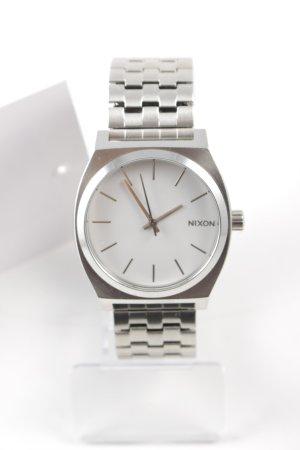 Nixon Horloge met metalen riempje zilver-wit minimalistische stijl
