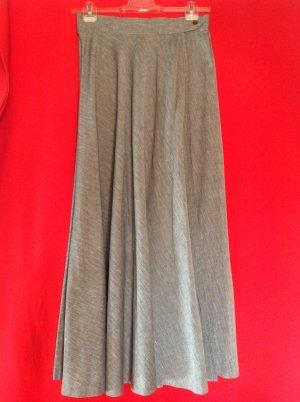 Jupe longue gris clair lin