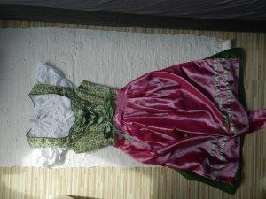 NKD Vestido Dirndl rosa-verde bosque Algodón