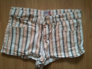 NKD Shorts Sommer Hose Khaki orange gestreift 36 S wie neu