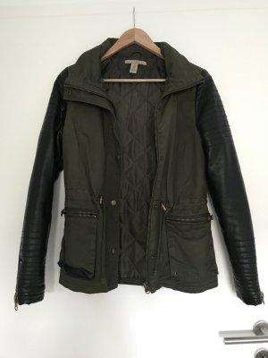 NLY Trend Leather Jacket black-khaki