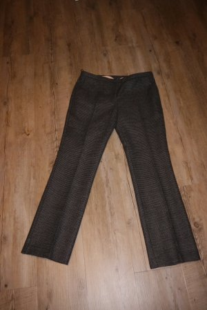 No. 21 Wollen broek zwart-grijs Gemengd weefsel