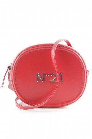 "No. 21 Borsa a spalla ""Round Calf Leather Crossbody Bag Red"" rosso mattone"