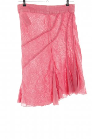 No.l.ita Falda asimétrica rosa look casual