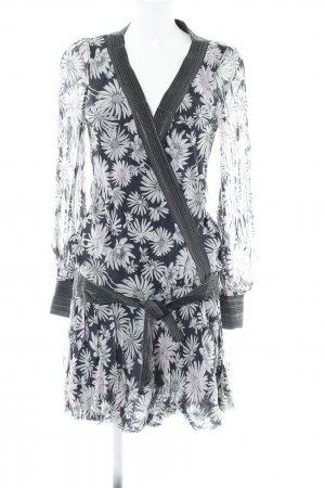 No.l.ita Halterjurk zwart-lichtgrijs bloemenprint casual uitstraling