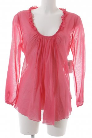 No.l.ita Transparenz-Bluse pink Romantik-Look
