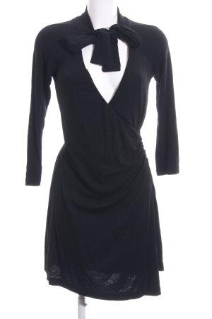 No.l.ita Vestido de lana negro elegante