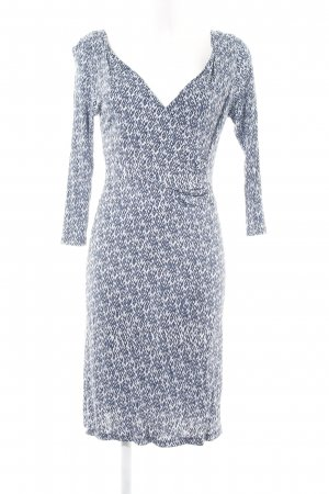 no man's land Stretch Dress light grey-white allover print casual look