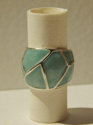Ring zilver-turkoois