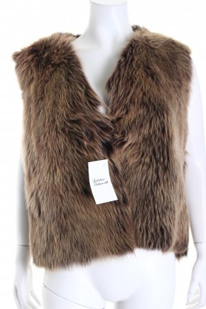 no name Fur vest beige-black brown casual look
