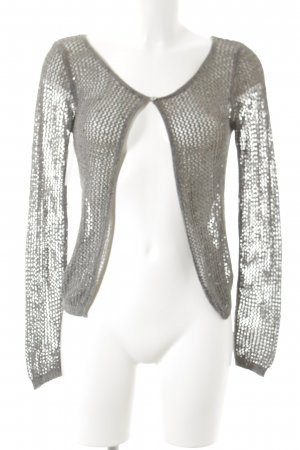 no name Strick Cardigan anthrazit Glitzer-Optik