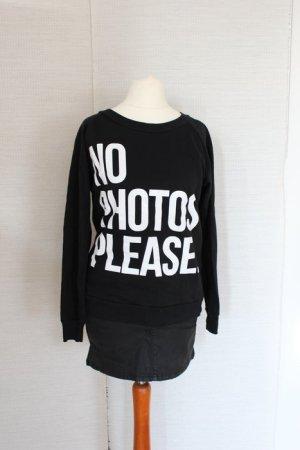no photos please Blogger Sweatshirt Pullover XS 34