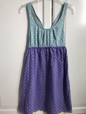 Négligé violet-turquoise