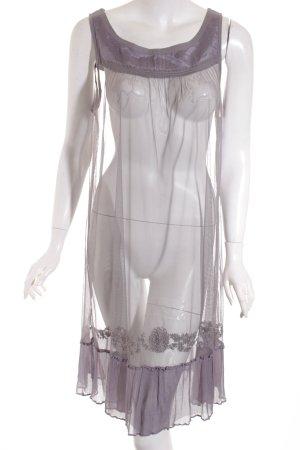 Noa Noa A-Linien Kleid grau Transparenz-Optik