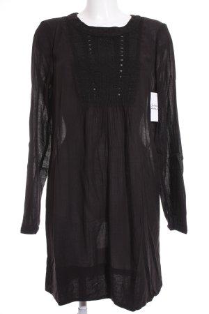 Noa Noa A-Linien Kleid schwarz Matt-Optik