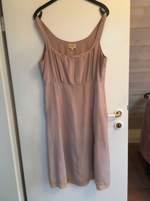 Noa Noa Basic Silk Kleid Seide altrosa nude XL NEU