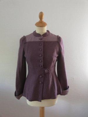 Noa Noa Blazer Jacke XS Lila vintage Wolle Seide