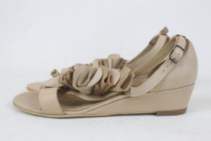 Noa Noa Wedge Sandals beige leather