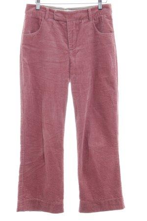 Noa Noa Pantalone di velluto a coste rosa antico stile casual