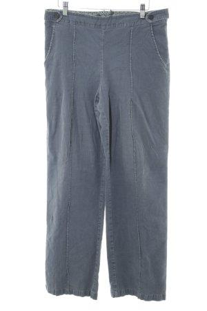 Noa Noa Pantalon en velours côtelé gris clair-bleu style décontracté
