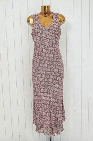NOA NOA Damen Kleid Sommerkleid Unterkleid Rosa Grün Geblümt Viskose Gr.S