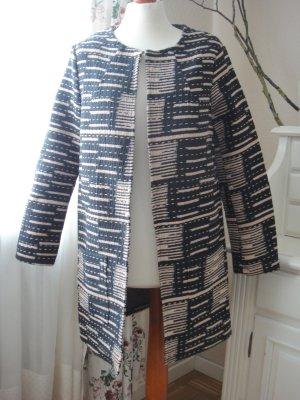 Noa Noa Cappotto in lana nero-beige Cotone