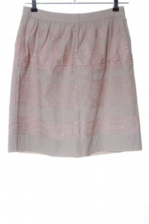 Noa Noa Gonna a campana grigio chiaro-rosa motivo grafico elegante