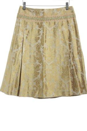Noa Noa Glockenrock goldfarben-nude florales Muster Paris-Look