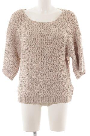 Noa Noa Pullover a maglia grossa crema-beige stile casual
