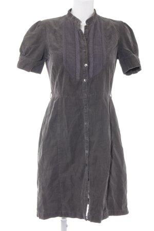Noa Noa Hemdblusenkleid grau schlichter Stil