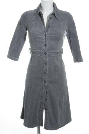 Noa Noa Hemdblusenkleid graublau Street-Fashion-Look