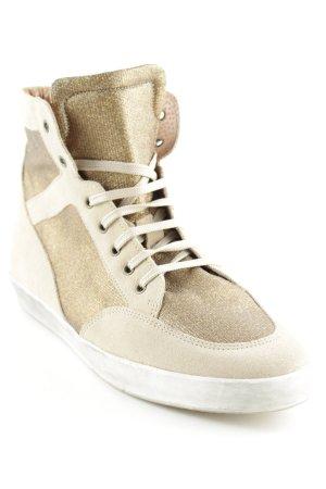 Noa Noa High Top Sneaker goldfarben-creme sportlicher Stil