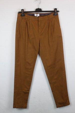 Noa Noa Boyfriend Trousers cognac-coloured cotton
