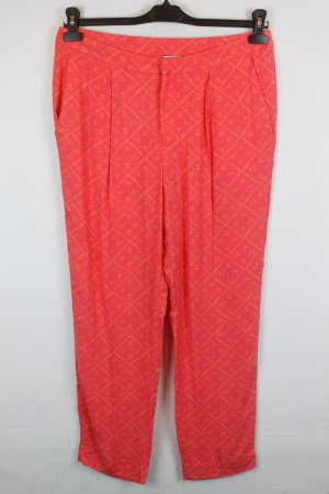Noa Noa Pleated Trousers neon orange-dark orange viscose