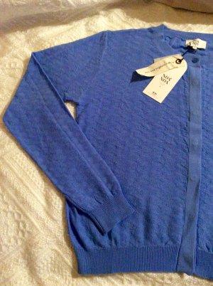 Noa Noa Jacke Cardigan himmelblau in Größe M aus 100% Bio-Baumwolle