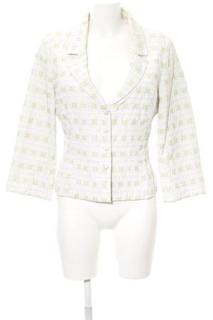 Noa Noa Jersey Blazer blanco-verde claro estampado floral productos vintage
