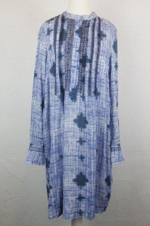 NOA NOA Kleid Tunikakleid Gr. L Batik Print blue NEU (MF/R)
