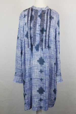NOA NOA Kleid Tunikakleid Tunika Gr. L Batik Print blue NEU