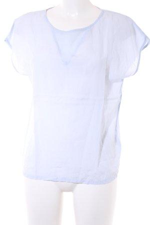 Noa Noa Kurzarm-Bluse himmelblau minimalistischer Stil