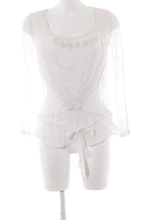 Noa Noa Langarm-Bluse weiß Elegant