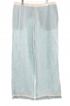 Noa Noa Linen Pants turquoise-cream casual look