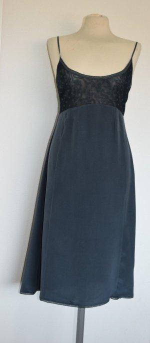 Noa Noa - Liebliches Seiden Kleid in vintage black Gr. L - neu