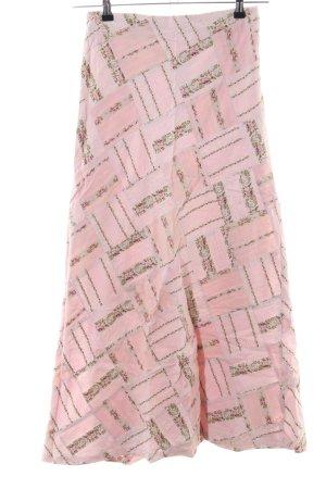 Noa Noa Falda larga rosa estampado con diseño abstracto look casual