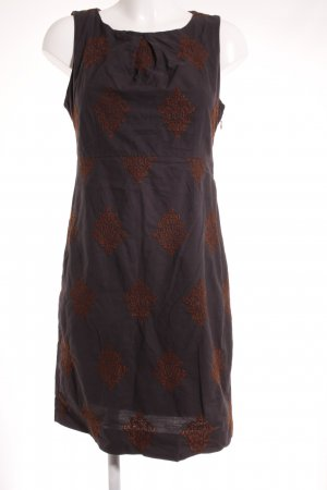 Noa Noa Minikleid dunkelgrau-braun abstraktes Muster Street-Fashion-Look