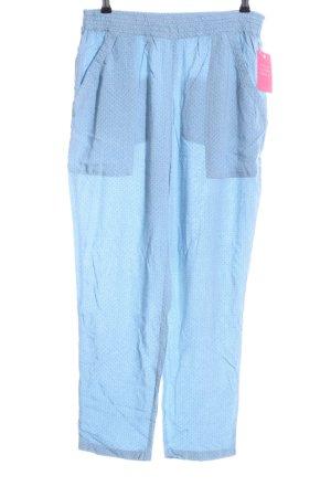 Noa Noa Palazzo Pants blue allover print casual look