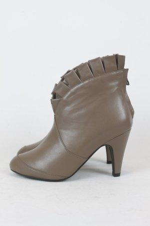 NOA NOA Pleat Boot Ankle Bootie Schuhe Gr. 36 dark nature NEU
